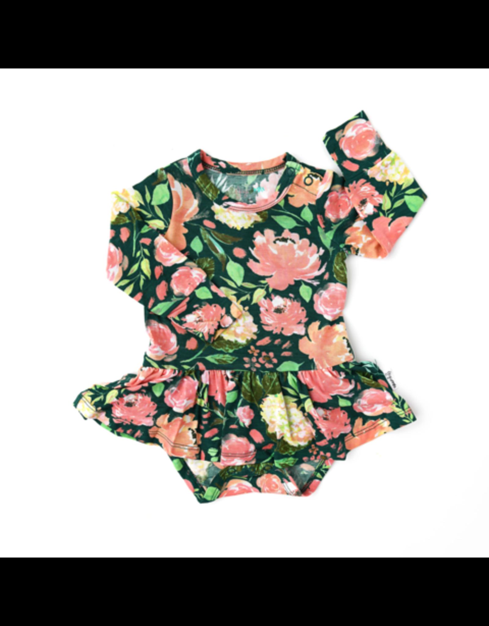 Gigi & Max Gigi & Max- Jolie Floral L/S Tutu Skirted Bodysuit