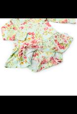 Gigi & Max Gigi & Max- Grace Floral L/S Tutu Skirted Bodysuit