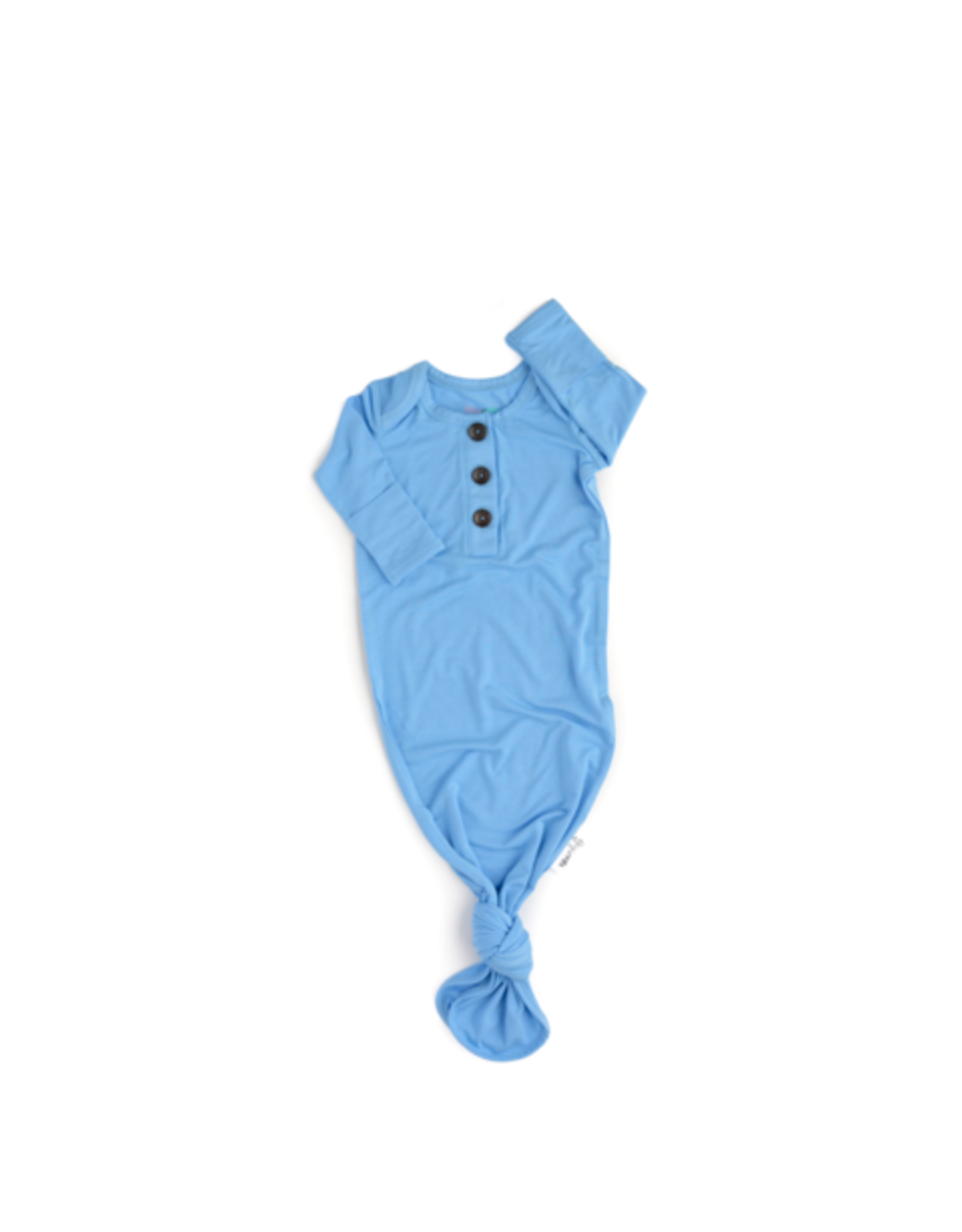Gigi & Max Gigi & Max- Baby Blue Knotted Button Gown