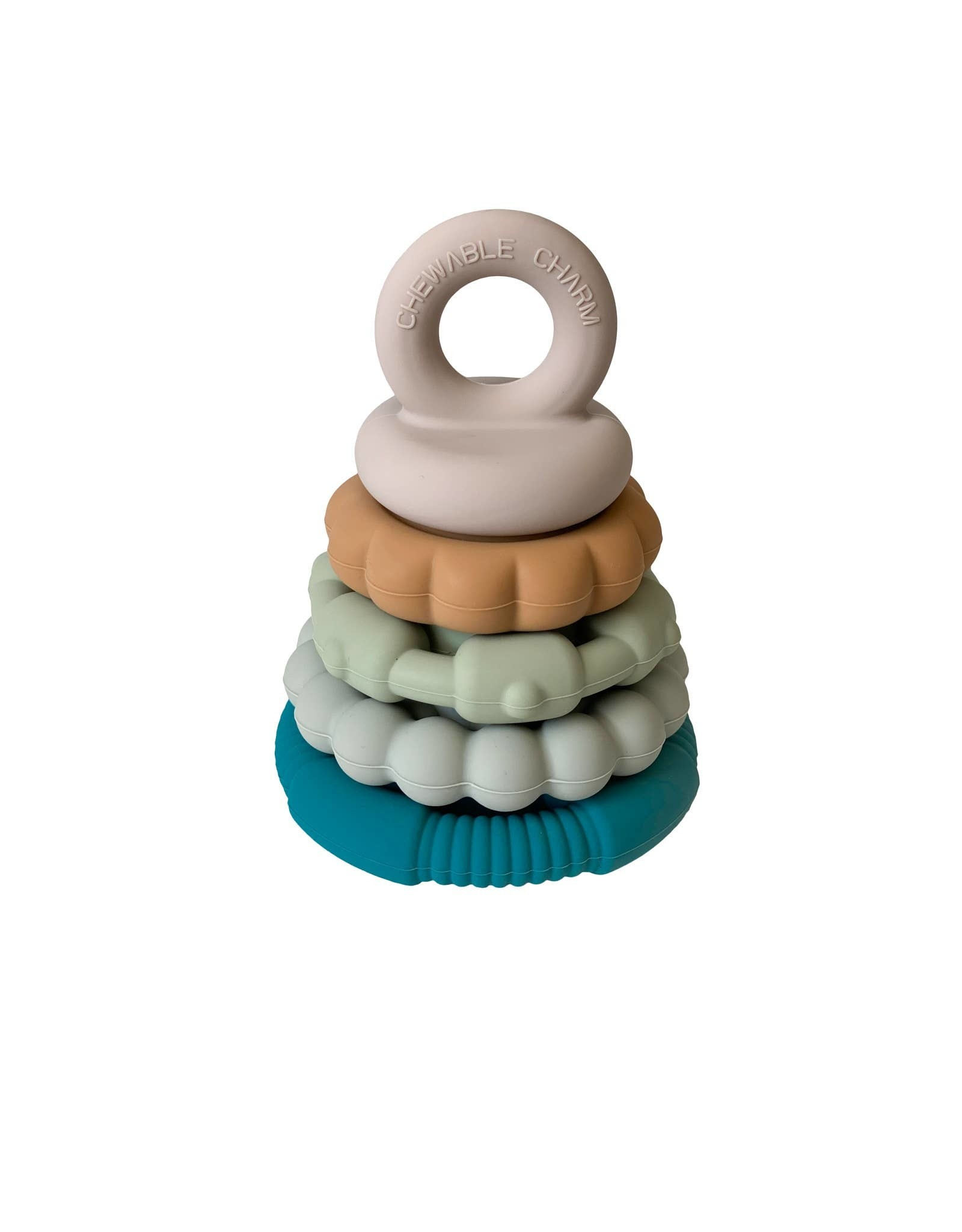 Chewable Charm Chewable Charm- Silicone Teether Stacker: River