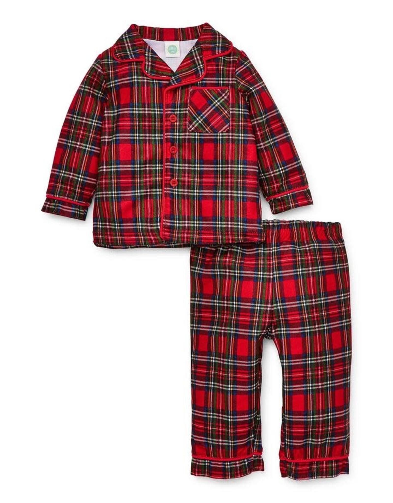 Little Me Little Me - Plaid Coat PJ