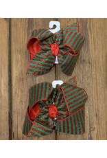 Beyond Creations Beyond Creations- Christmas Stripe Red Knot Bow