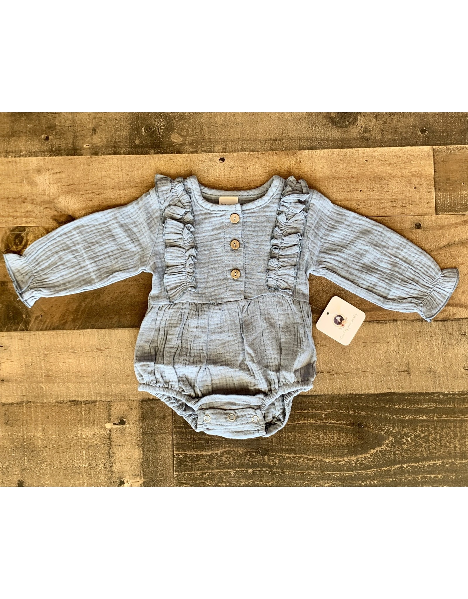loved by Jade Presley loved by jade presley- Tori L/S Romper: Baby Blue