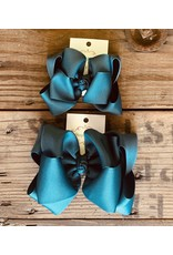 OS - Deep Ocean Stacked Grosgrain Bow