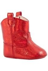 Baby Deer - Red Crackle Metallic Western Boot