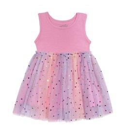 Sweet Wink- Magical Sleeveless Dress- Pink