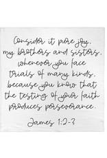 Modern Burlap Modern Burlap- James 1:2-3 Swaddle