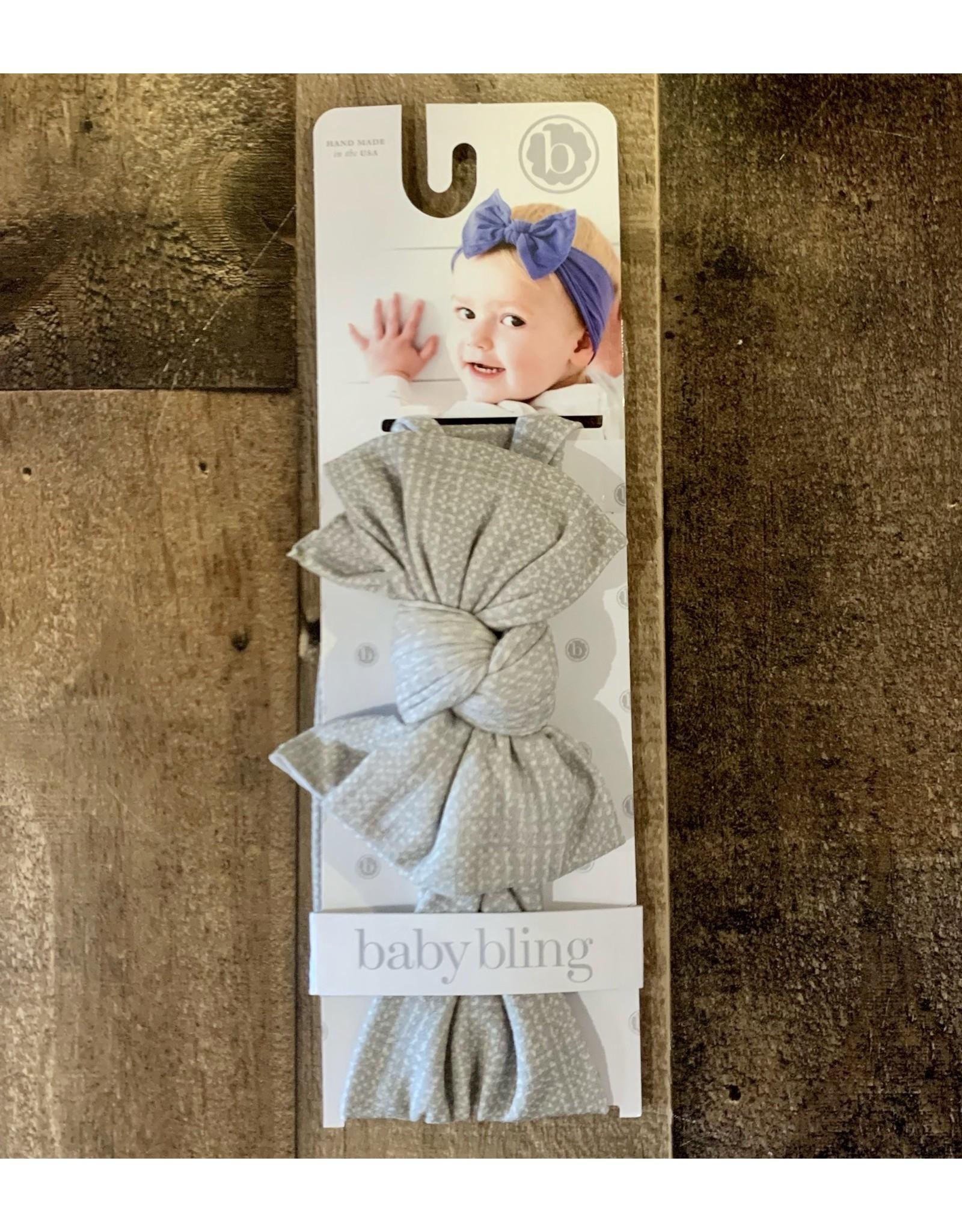 Baby Bling Baby Bling - Printed DEB Natural Grid Willow
