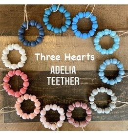 Three Hearts- Adelia Teether