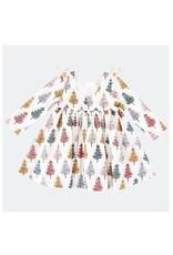 Pink Chicken Pink Chicken- Multi Christmas Trees Sheila Dress