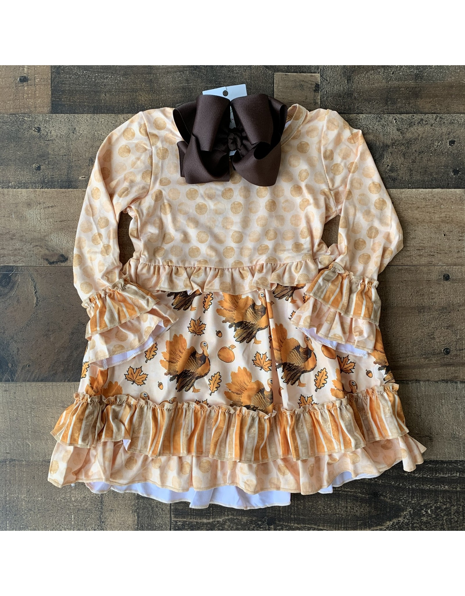 Harvest Dot Turkey Dress