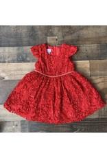 Bonnie  Jean Bonnie Baby- Red Sequin Soutache Party Dress