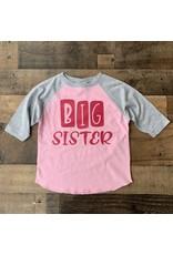 BIG SISTER Grey/Pink Raglan