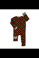 Gigi & Max Gigi & Max- Paxton Christmas Plaid Zipper Footie