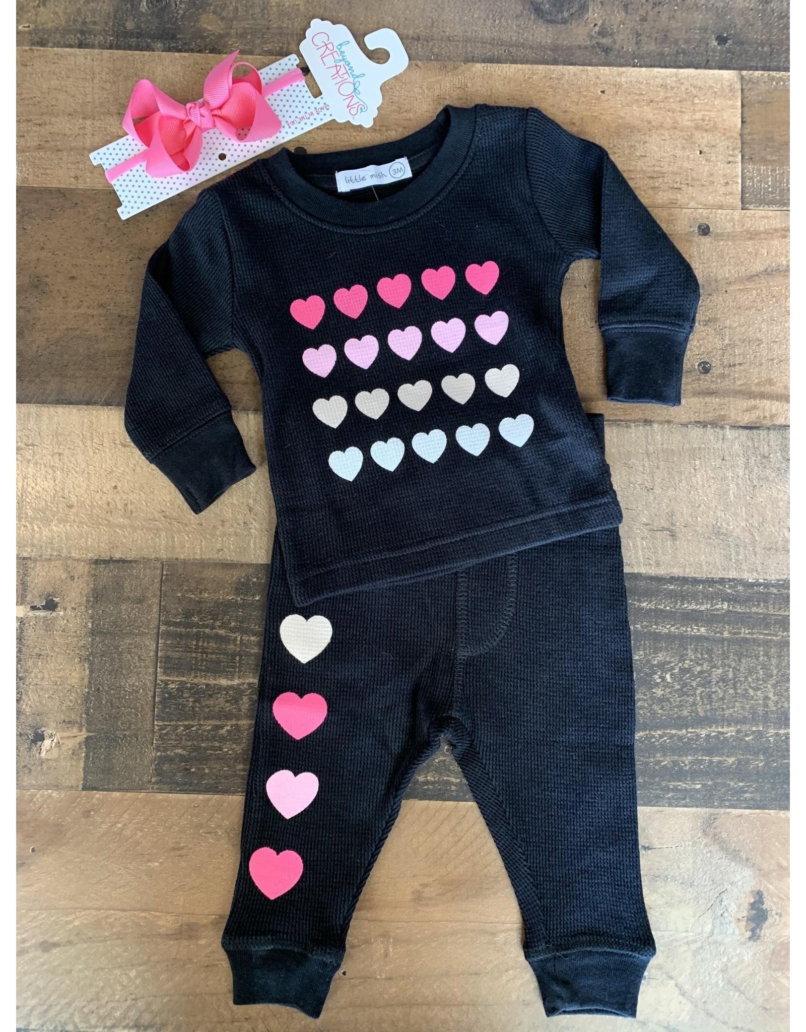 Mish Boys Mish Boys- Love Black/Pink Set