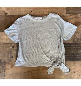 Sadie & Sage Sadie & Sage- Asymmetircal Knit Top: Grey