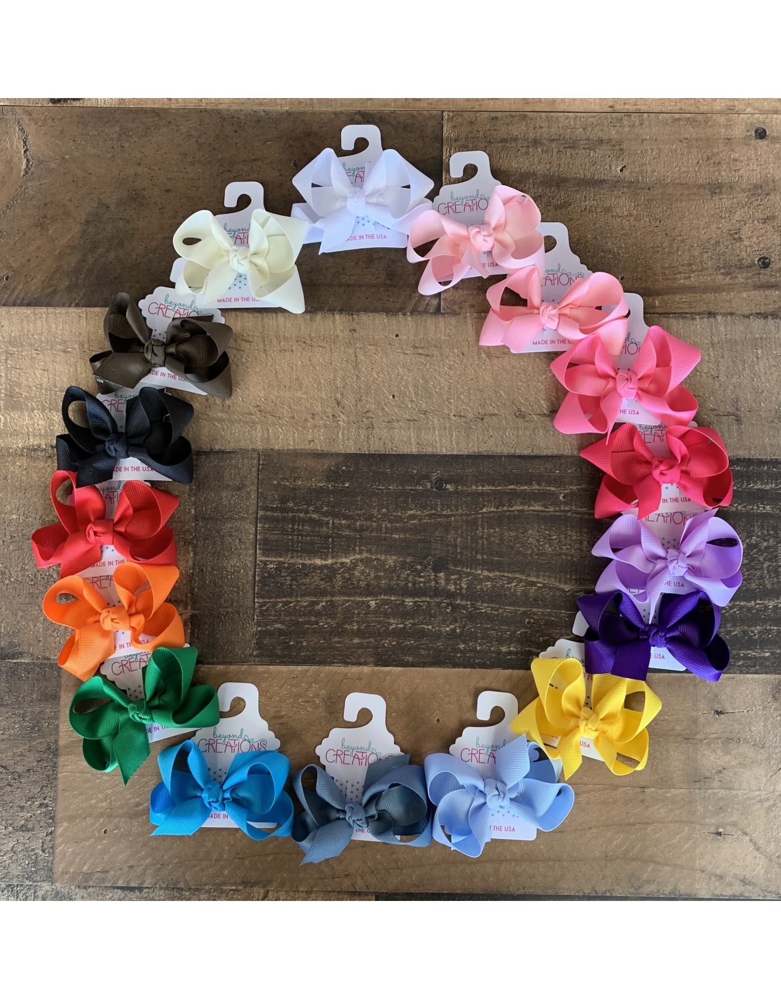 """Beyond Creations Beyond Creations- 3.5"""" Med Knot Grosgrain Bow"""