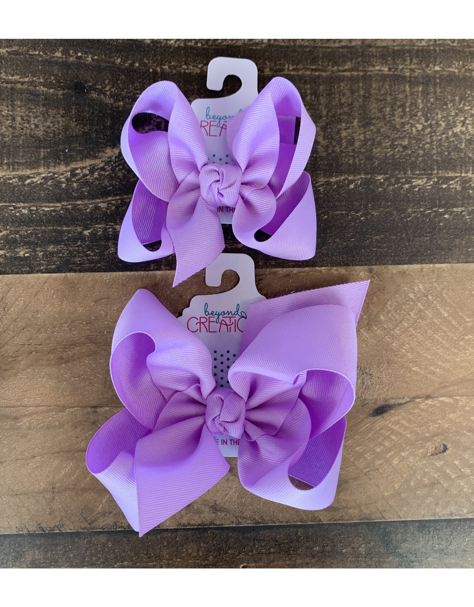 Beyond Creations Beyond Creations- Light Orchid Grosgrain Knot Bow