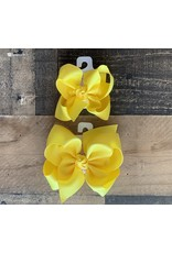 Beyond Creations Beyond Creations- Bright Yellow Grosgrain Knot Bow