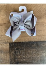 Beyond Creations Beyond Creations- Grey Grosgrain Knot Bow