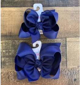 Beyond Creations Beyond Creations- Navy Grosgrain Knot Bow