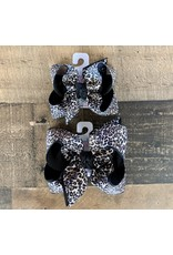 Beyond Creations Beyond Creations-  Black Multi Leopard Layered Knot Bow
