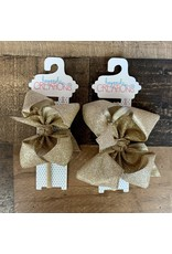 Beyond Creations Beyond Creations - Champagne Glitter Metallic Bow on 1/4 HB