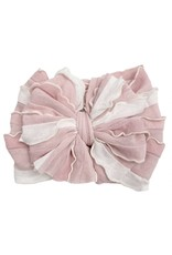 In Awe- Tickled Pink Stripe Headband