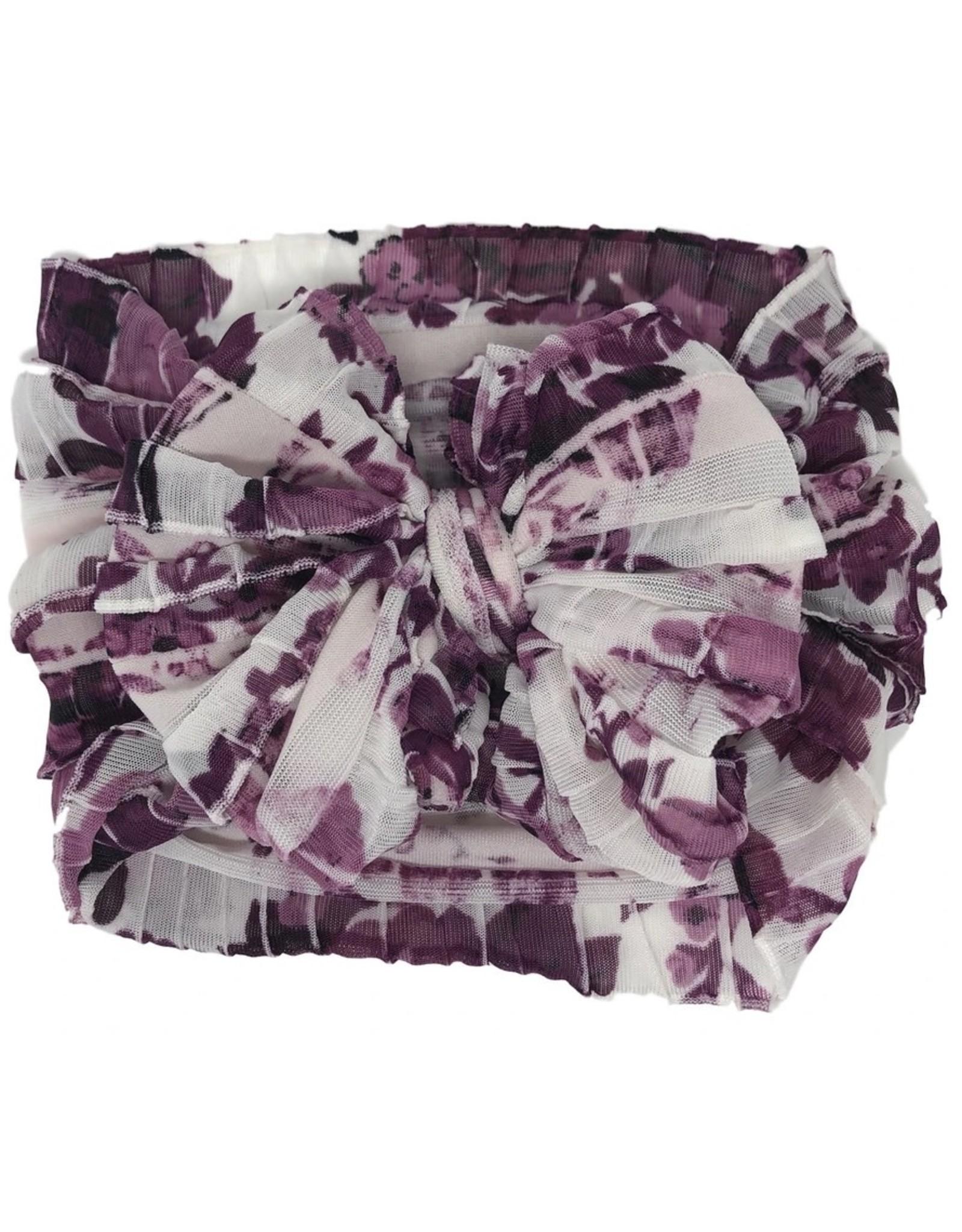 In Awe- Plum Floral Headband
