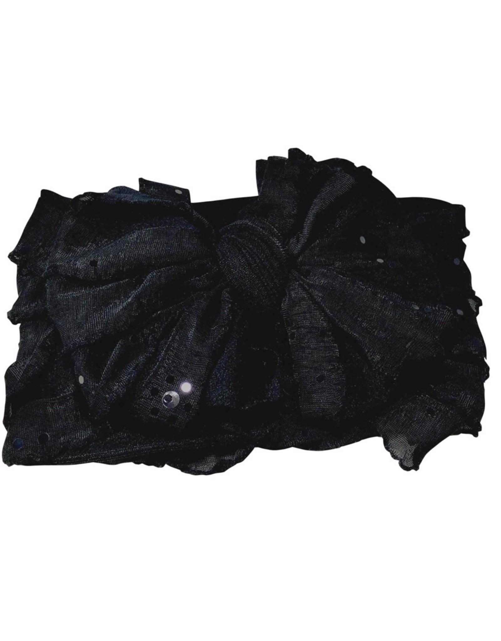 In Awe-Black Sequin Headband