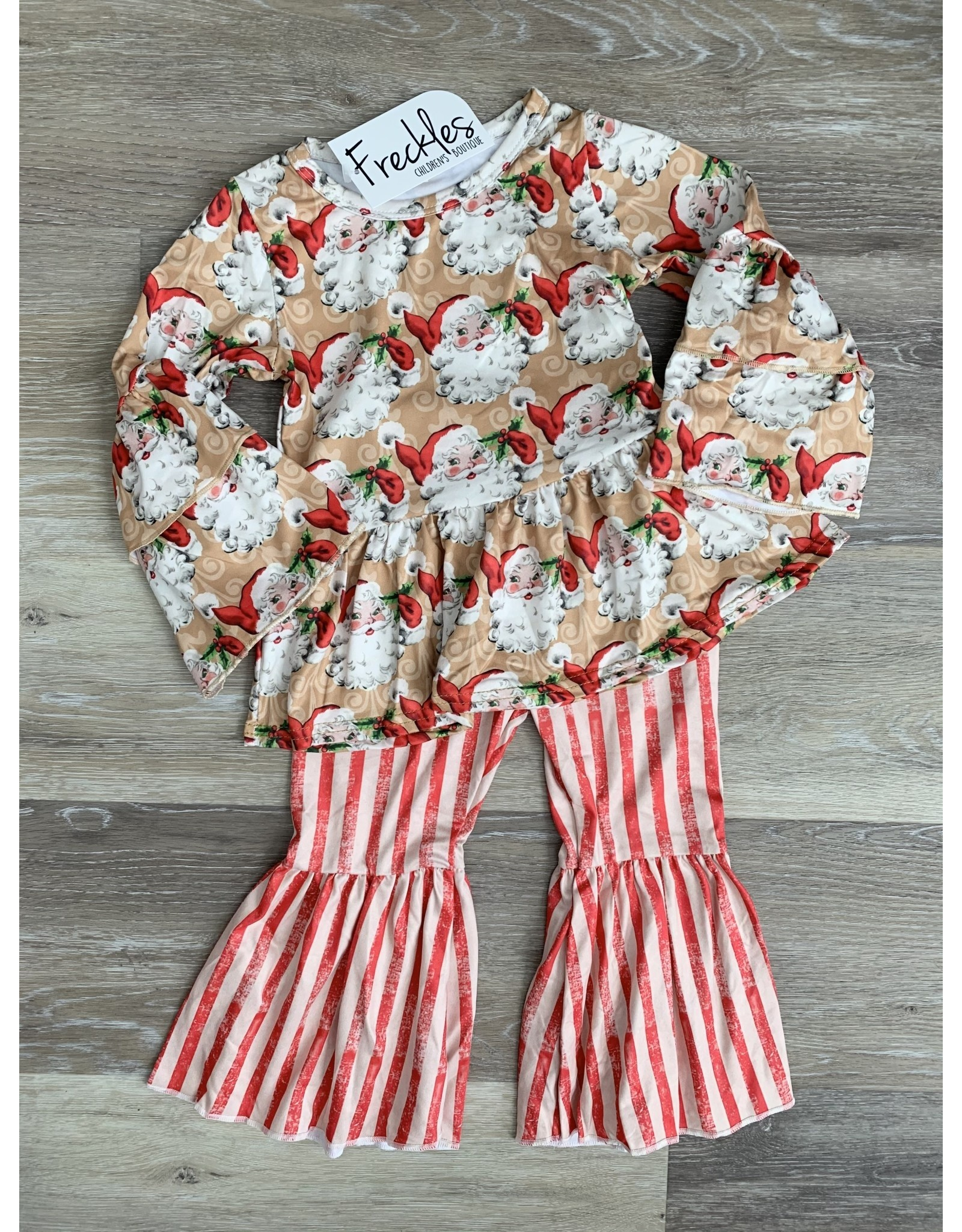 Candy Cane Santa Bell Bottom Set