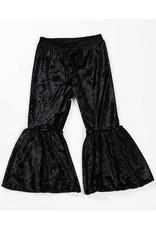 Black Velvet Bell Bottom Pants