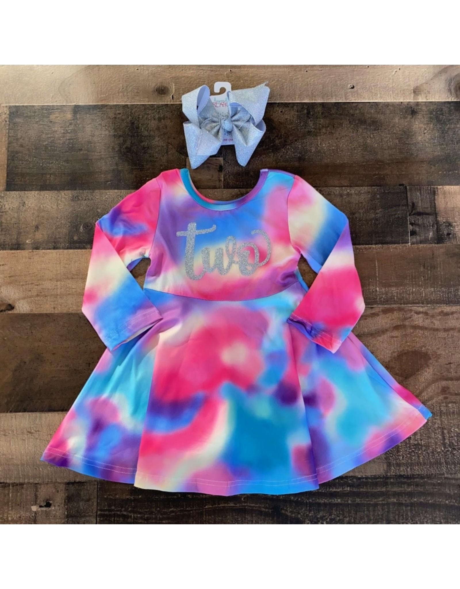 """Tie Dye """"Two"""" Dress"""