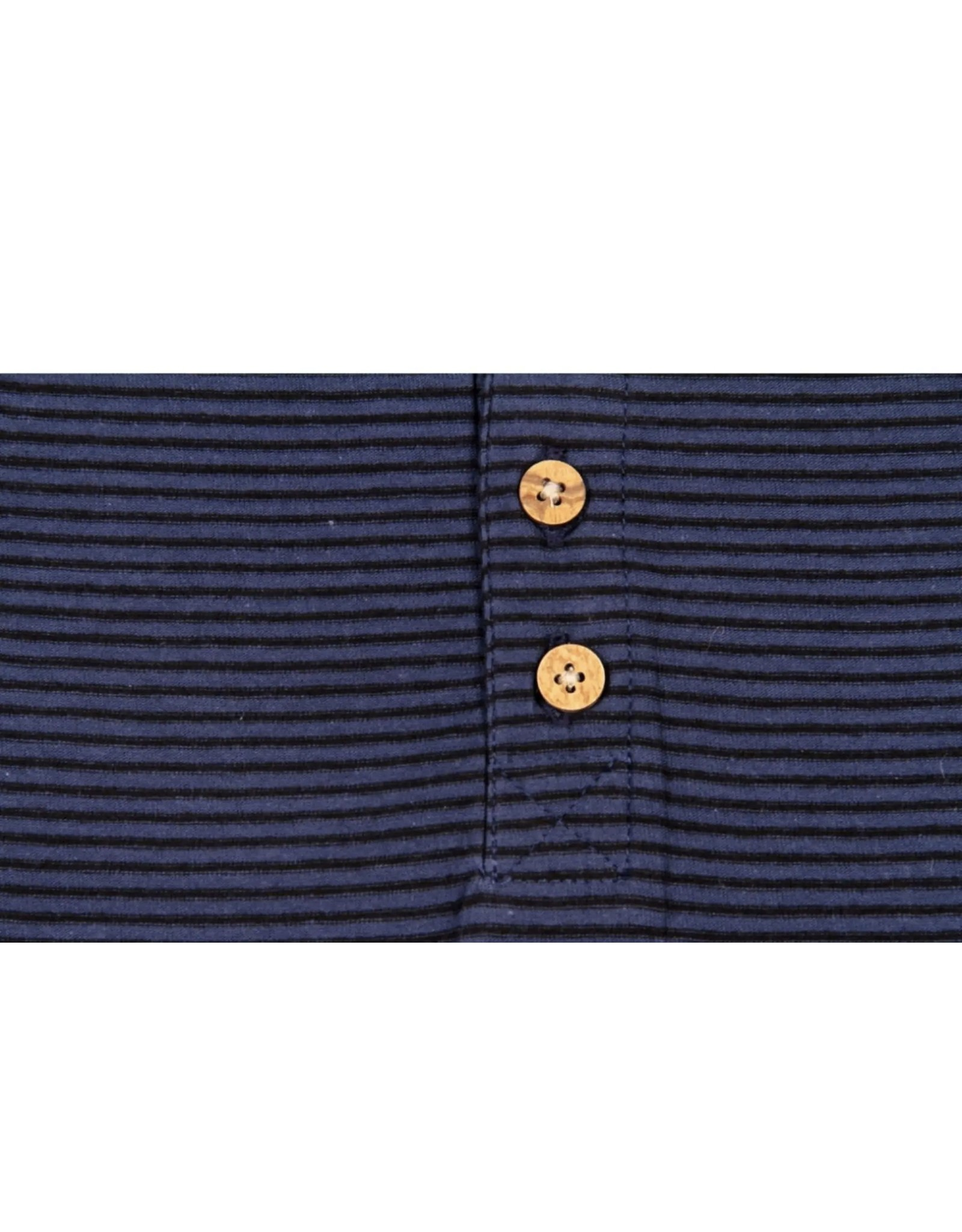 Bear Camp Bear Camp- Micro Stripe Button Henley: Blue