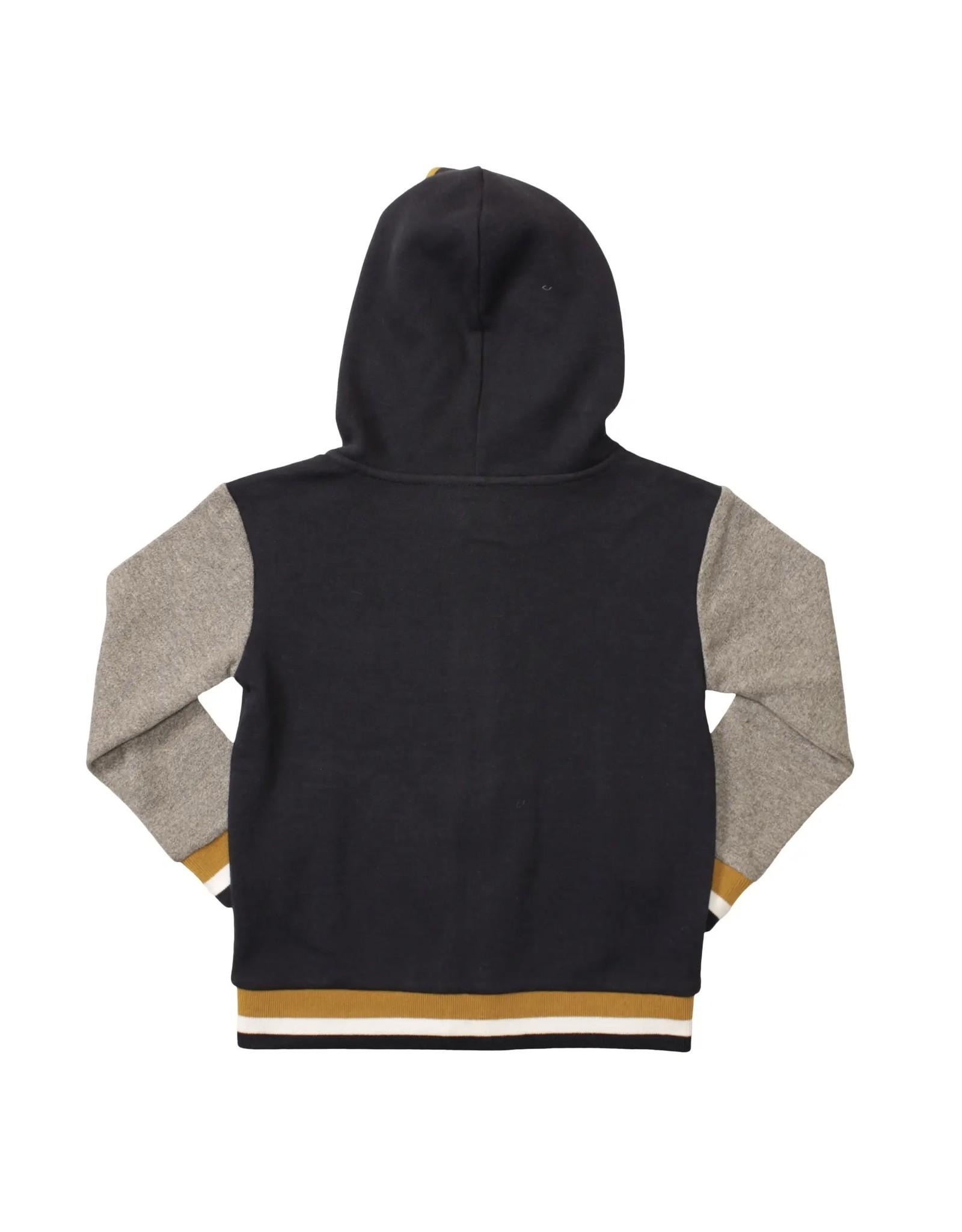 Bear Camp Bear Camp- Zip Up Hoodie w/Contrast Stripe Cuffs