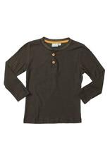 Bear Camp Bear Camp- Micro Stripe Button Henley: Black