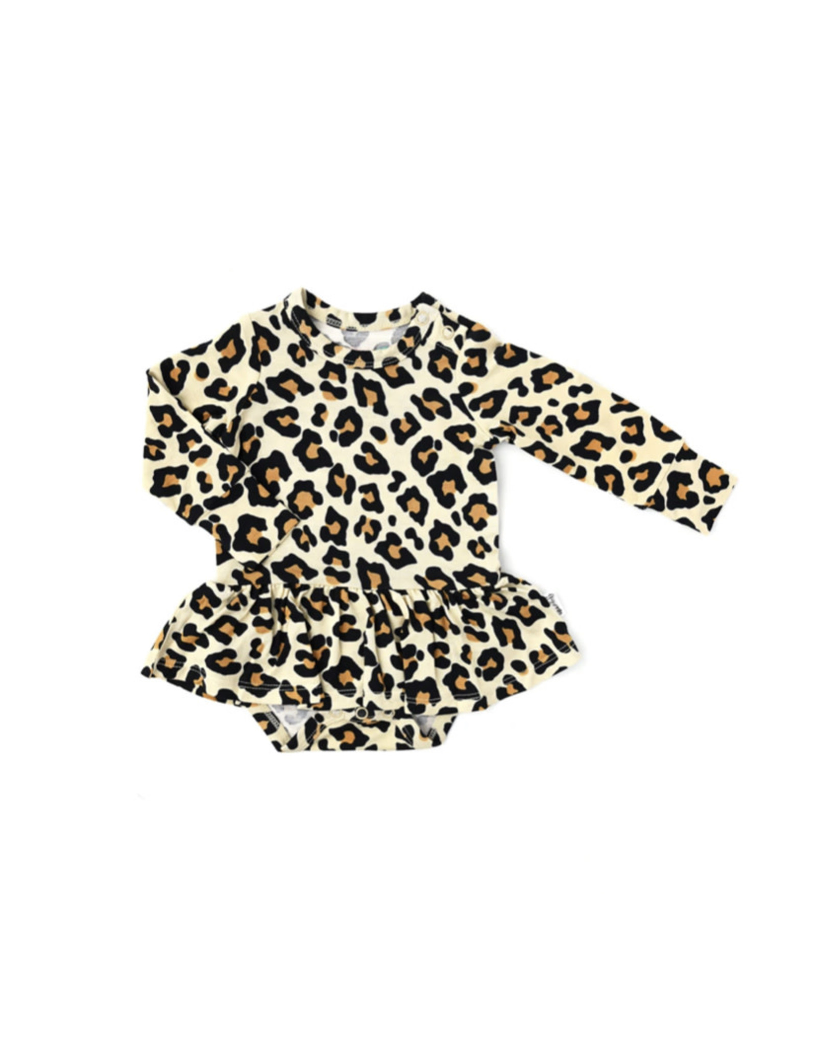 Gigi & Max Gigi & Max- Gia Leopard L/S Tutu Skirted Bodysuit