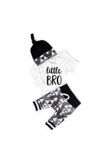 Gigi & Max Gigi & Max- Little BRO Black & Gray L/S Triangle Set