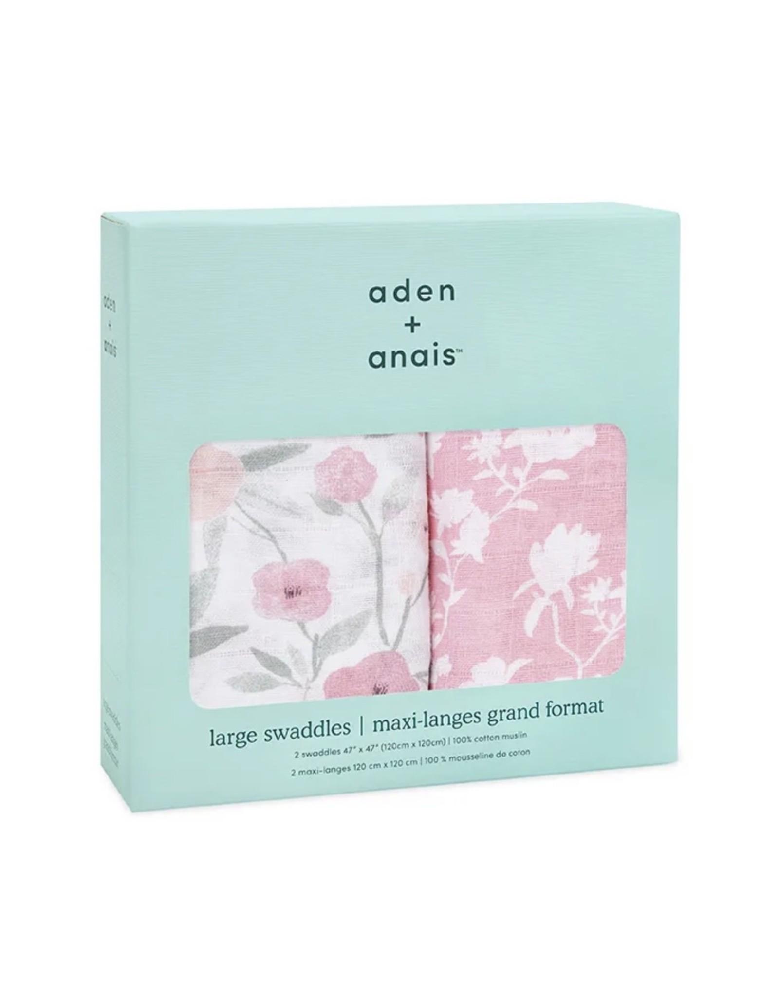 Aden + Anais Aden + Anais- Classic Swaddles 2PK: Ma Fleur
