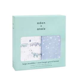 Aden + Anais Aden + Anais- Classic Swaddles 2PK: Rising Star