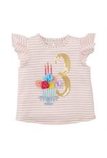 Mudpie Mud Pie- Three Birthday Shirt 3T