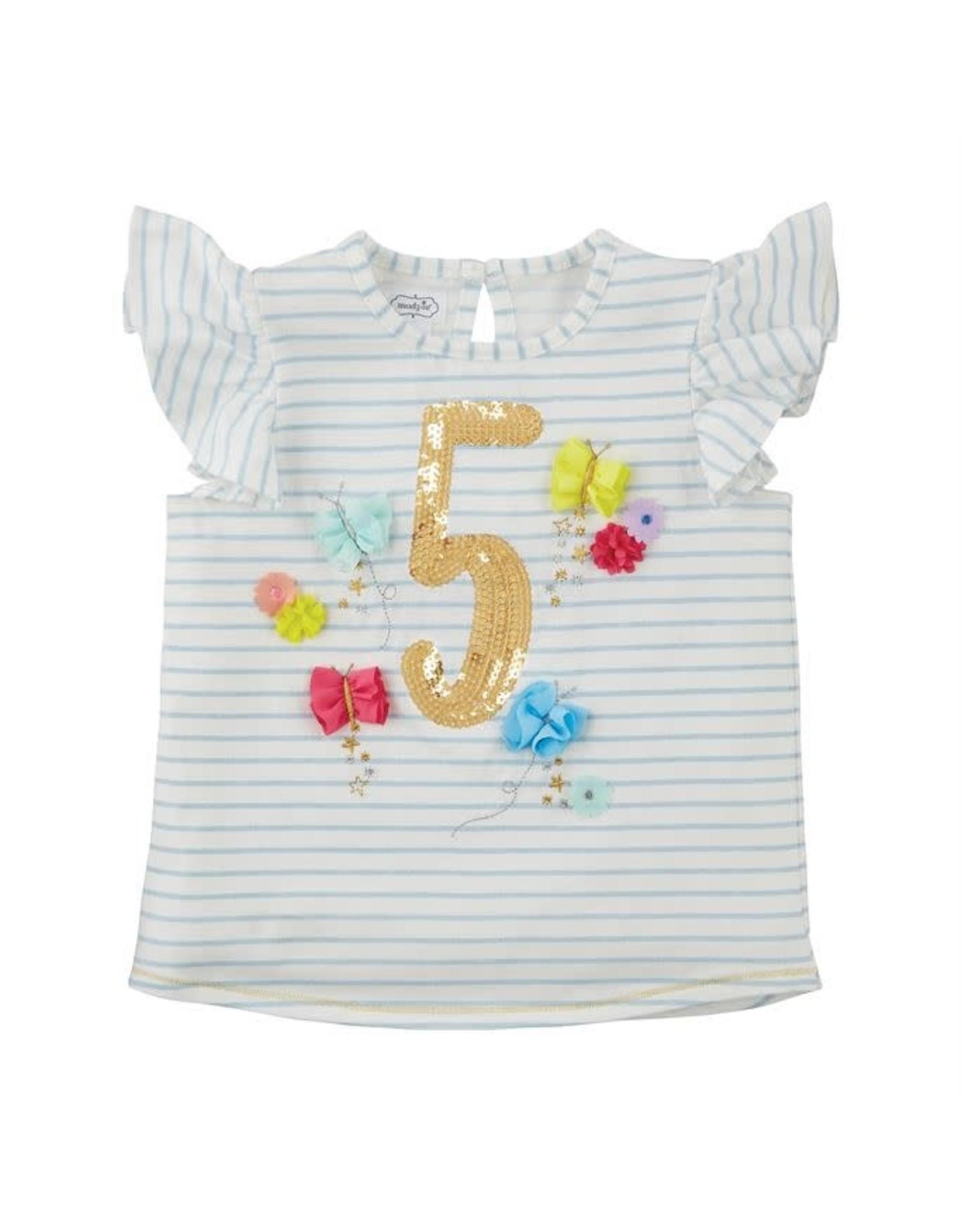 Mudpie Mud Pie- Five Birthday Shirt 5T