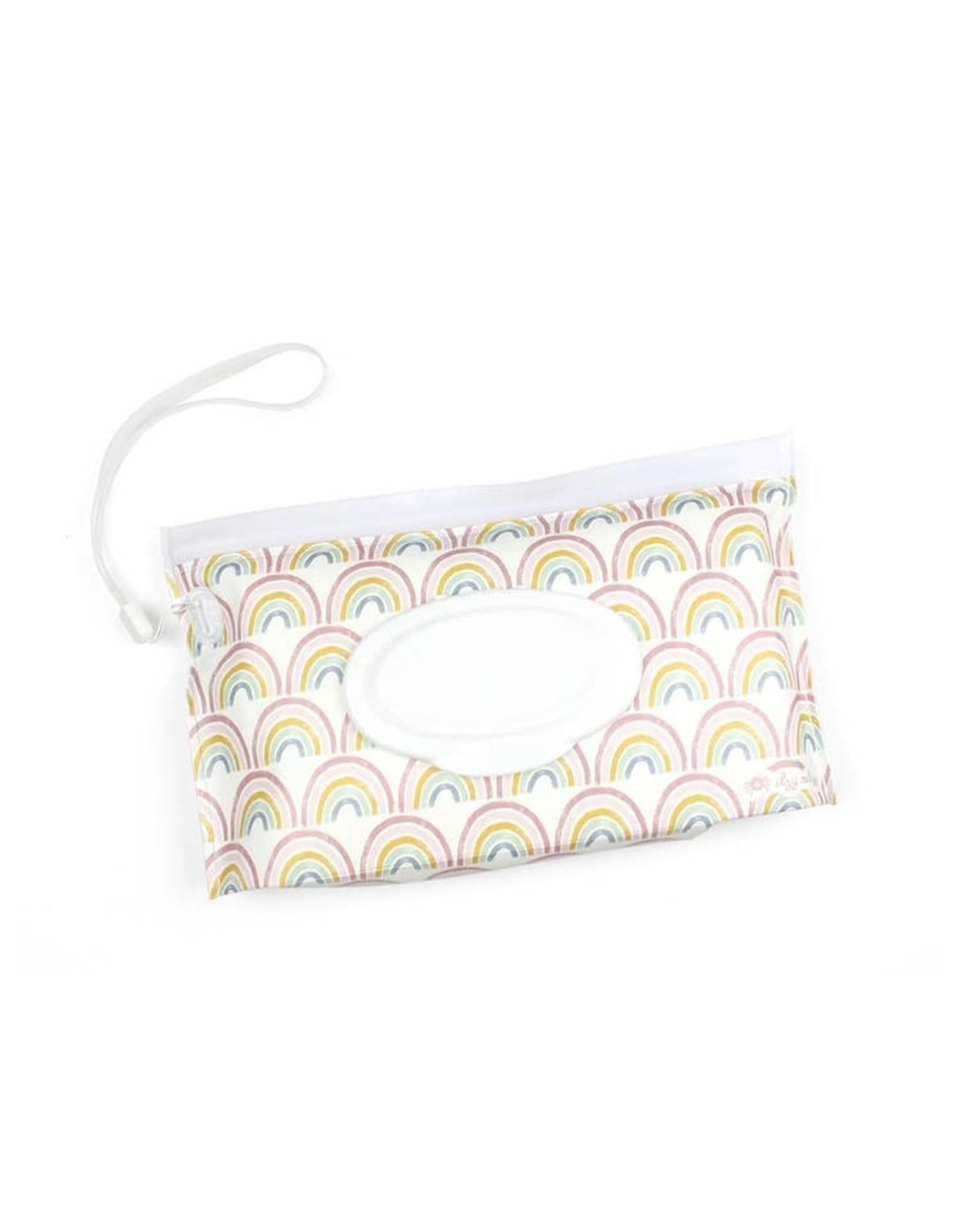Itzy Ritzy Itzy Ritzy - Take & Travel Pouch Wipes Case Rainbow