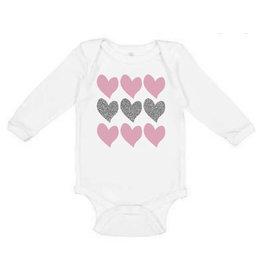 Sweet Wink- Triple Heart L/S Bodysuit