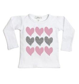 Sweet Wink- Triple Heart L/S Shirt