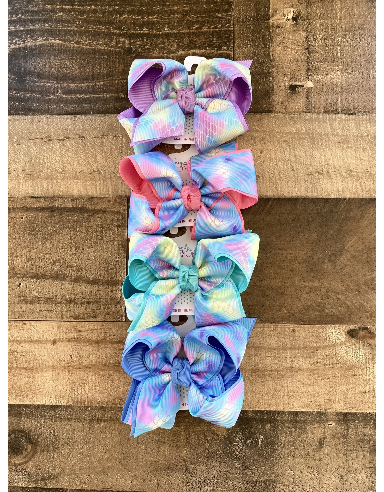"Beyond Creations Beyond Creations- 5.5""XL Mermaid Layered Knot Bow"