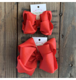 OS - Red Stacked Grosgrain Bow