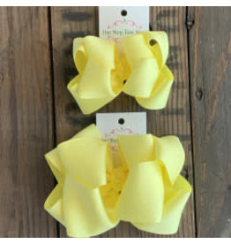 OS - Maize Stacked Grosgrain Bow