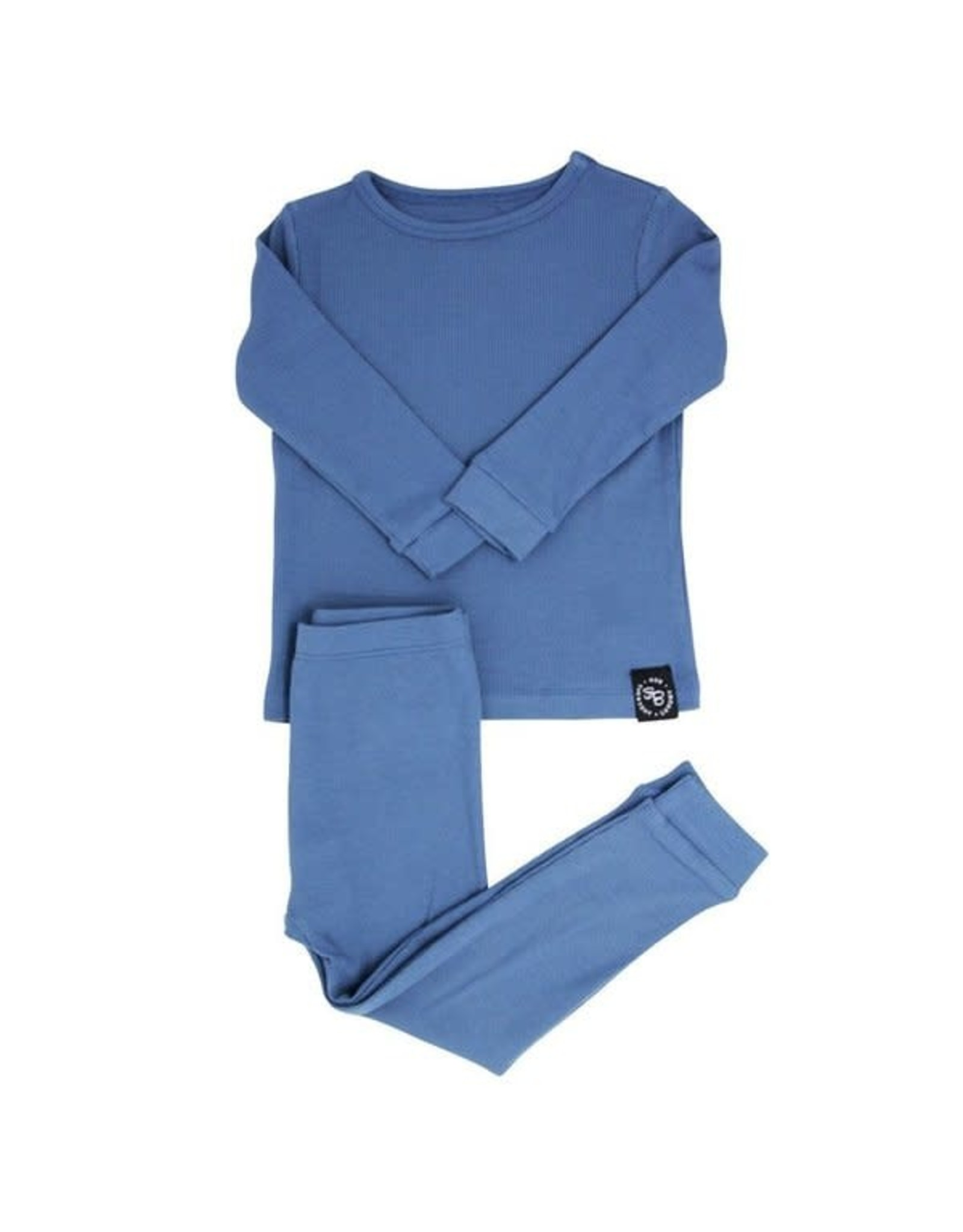 Sweet Bamboo- China Blue Ribbed PJs