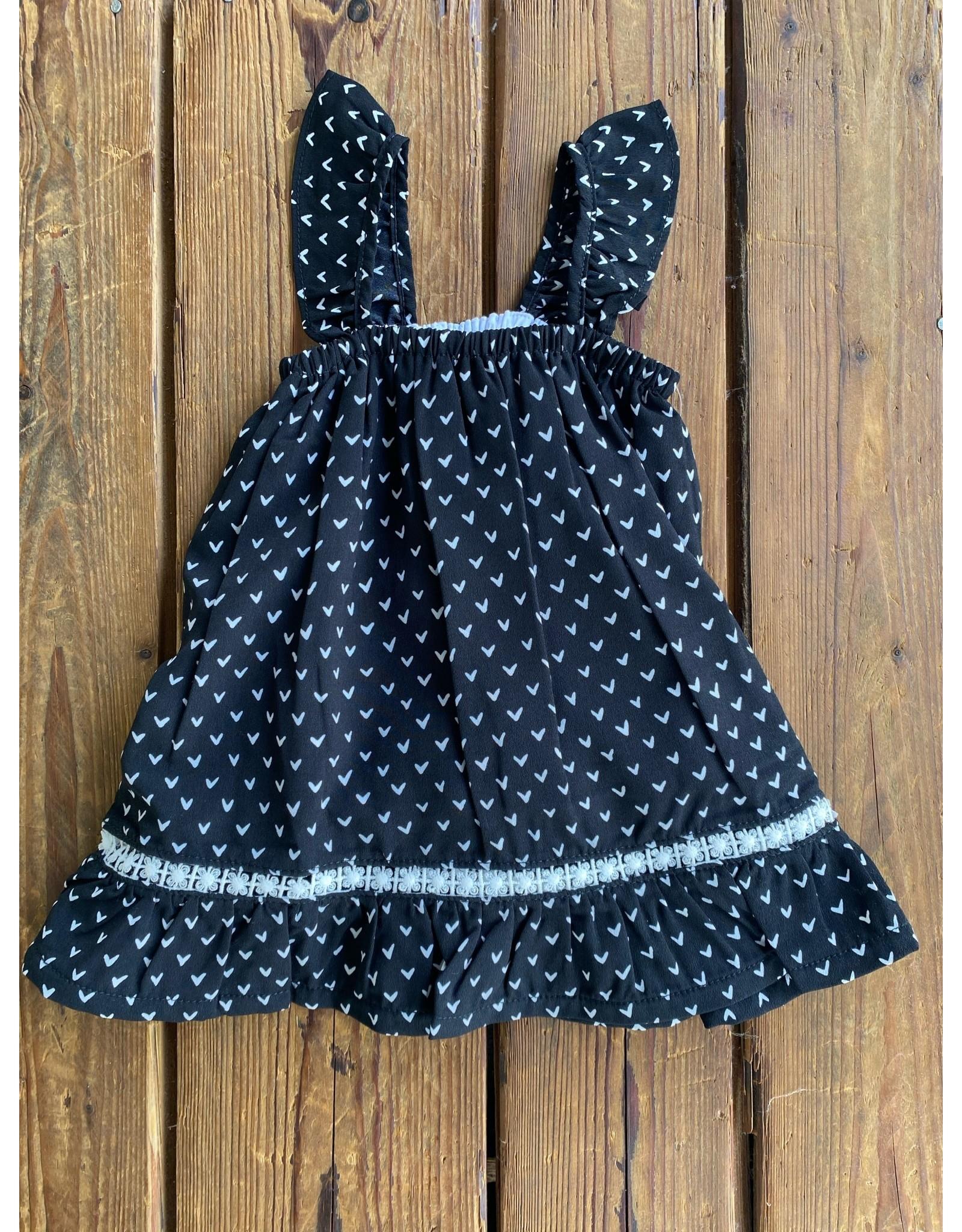Kapital K- Heart Print Ruffle Dress
